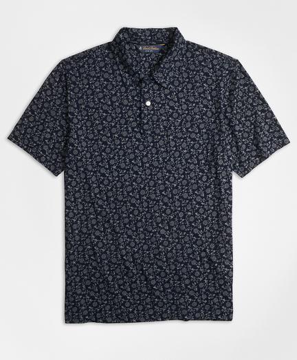 Slim Fit Floral Indigo Polo Shirt