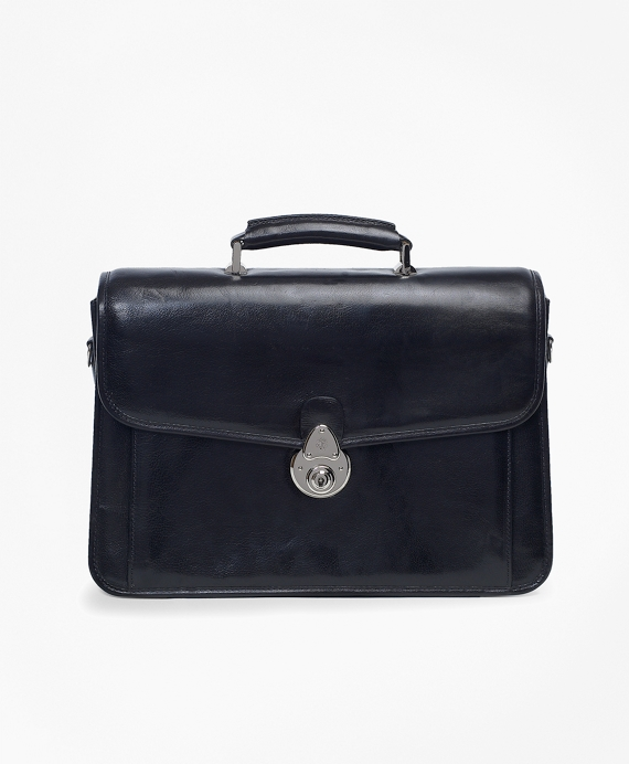 Single Gusset Classic Briefcase Black