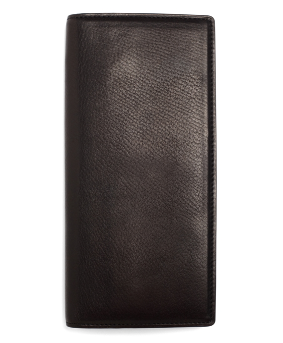 Long Leather Wallet Black