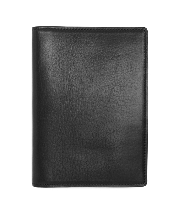 Long Leather Card Case Black