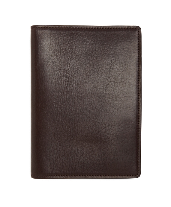 Long Leather Card Case Brown