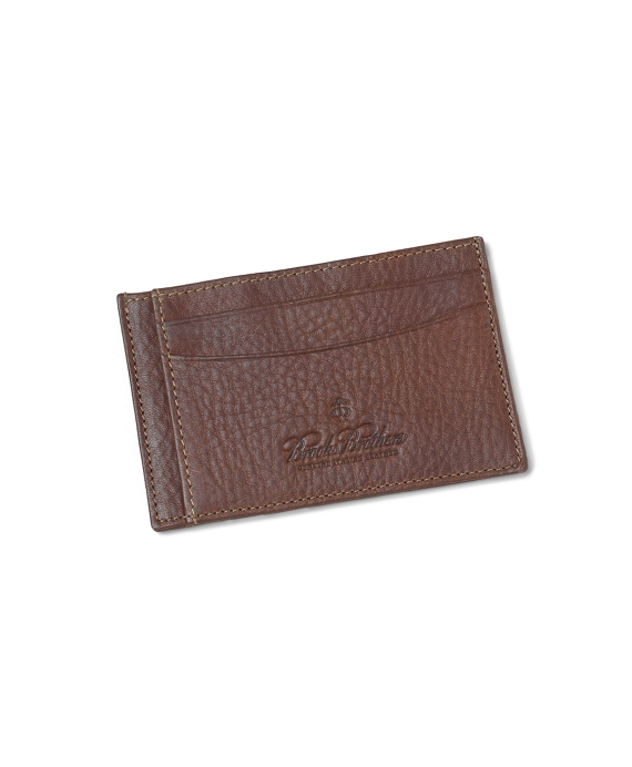 Pebble Card Case Brown