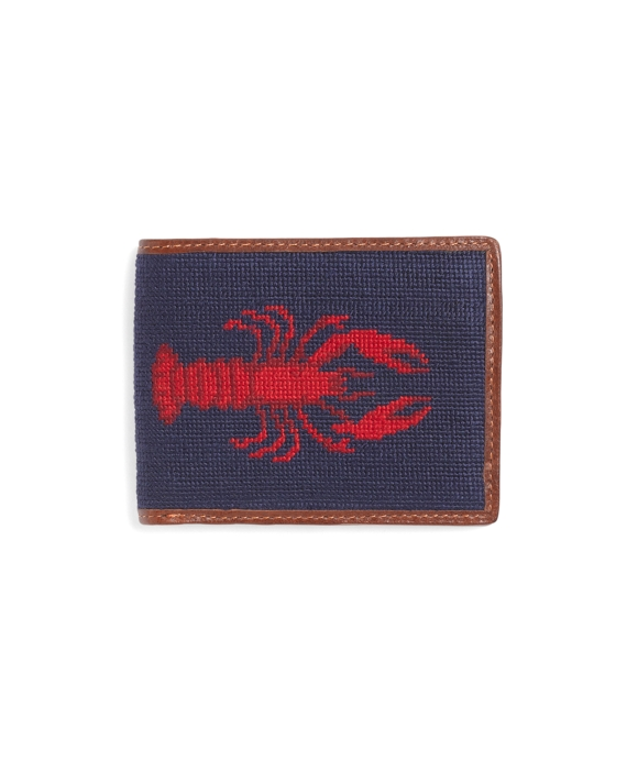 Needlepoint Lobster Billfold Navy