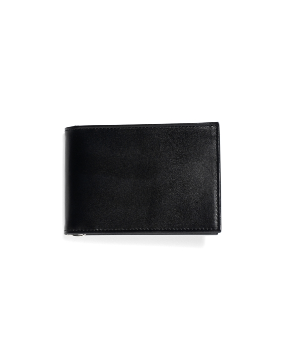 French Calfskin Slim Wallet with Money Clip Black