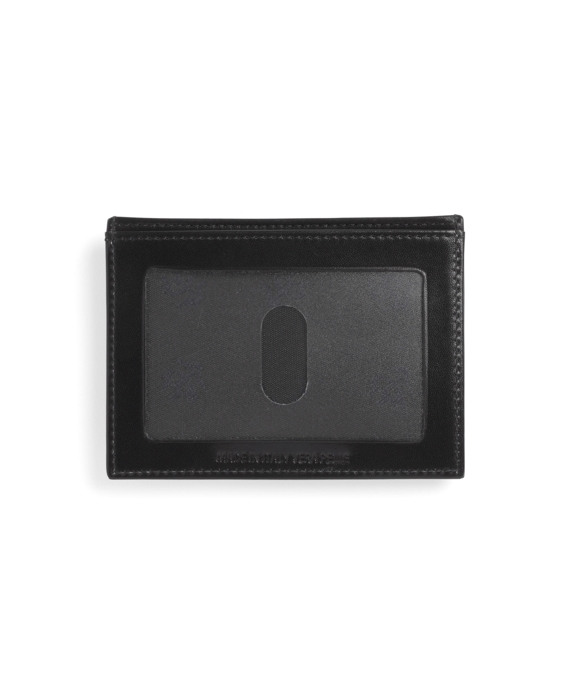 French Calf Card Case with Magnetic Clip Black