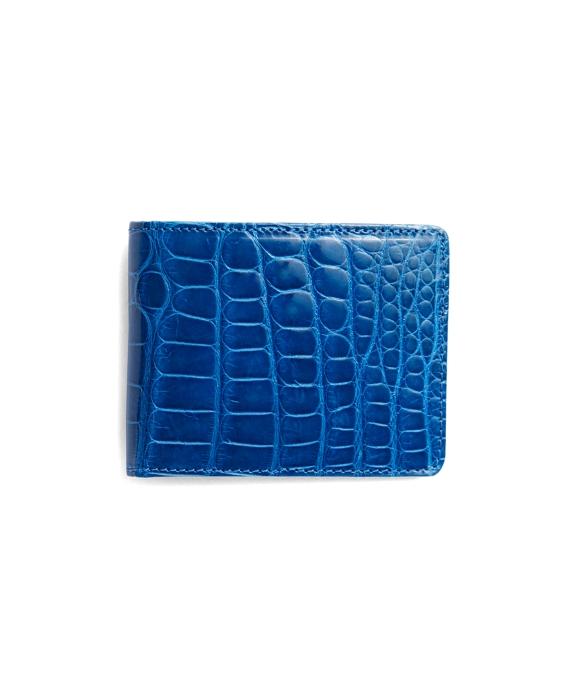 Slim Alligator Wallet Blue