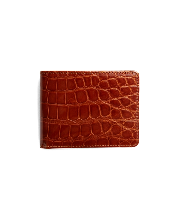 Slim Alligator Wallet Cognac