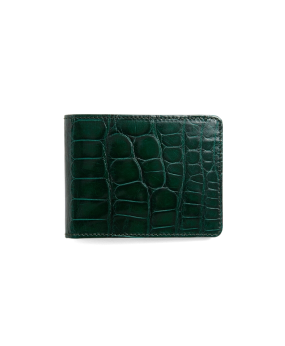 Slim Alligator Wallet Green