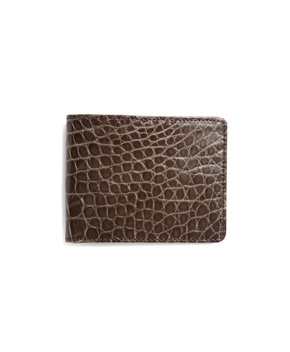 Slim Alligator Wallet Grey