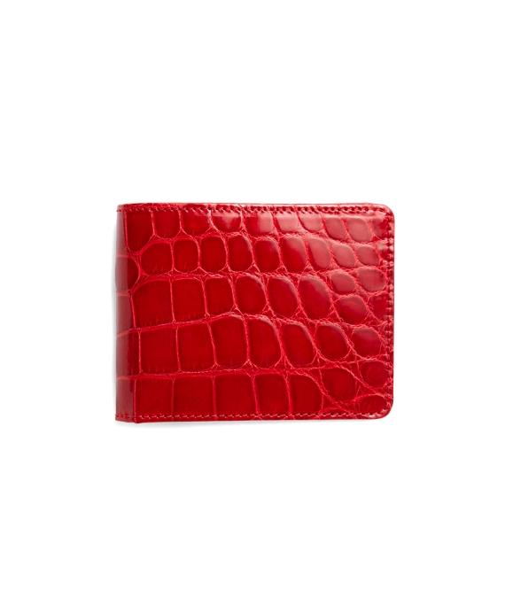 Slim Alligator Wallet Red