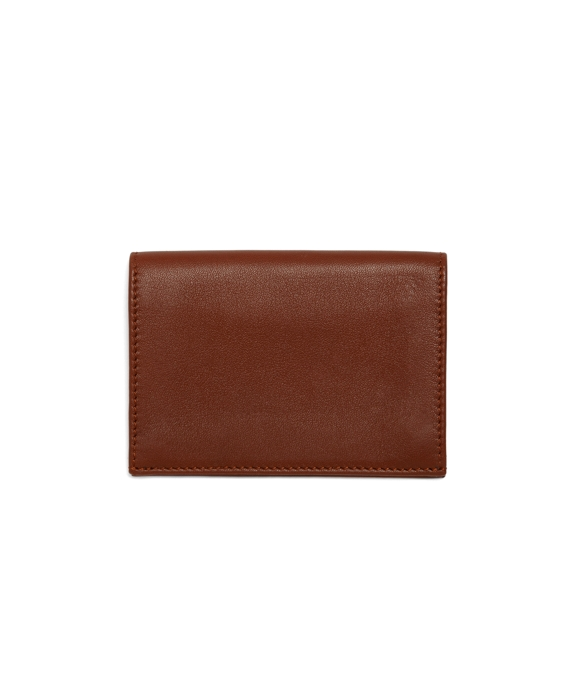 Calfskin Card Case Tan-Green