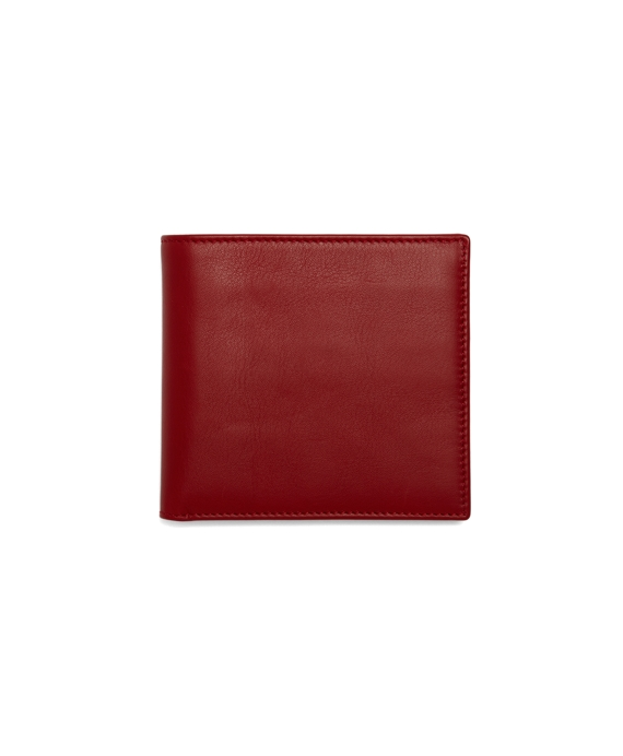 Calfskin Euro Wallet Red-Navy