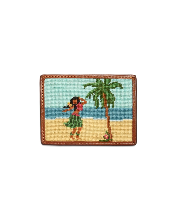Needlepoint Hula Card Case As Shown