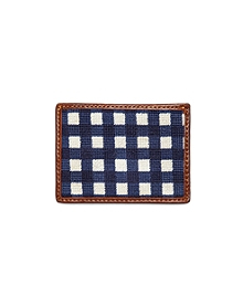 Needlepoint Gingham Card Case