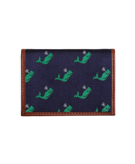 Whale Repp Card Case Navy-Green