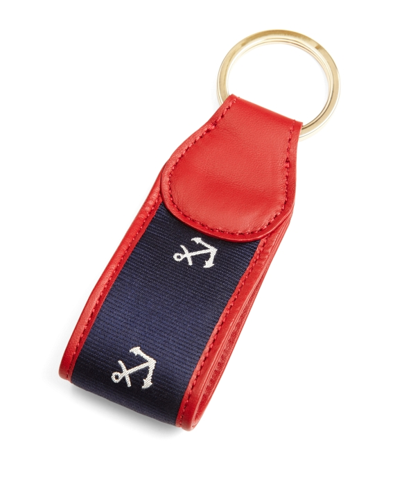 Anchor Rep Key Fob Navy-White