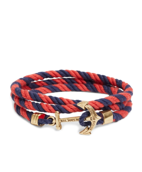 Kiel James Patrick Lanyard Hitch Cord Bracelet Navy-Red