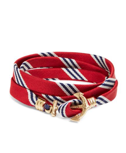 Kiel James Patrick Red Mini BB#1 Stripe Wrap Bracelet