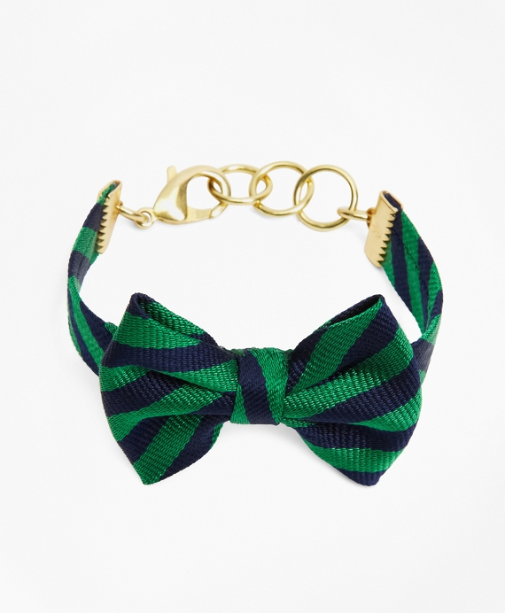 Kiel James Patrick BB#5 Bow Tie Bracelet Navy-Green