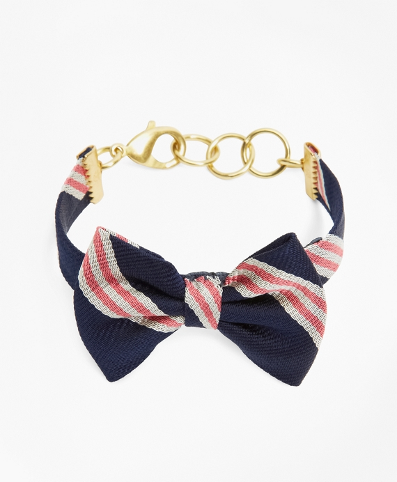 Kiel James Patrick Mini BB#1 Bow-Tie Bracelet Navy-Pink-White