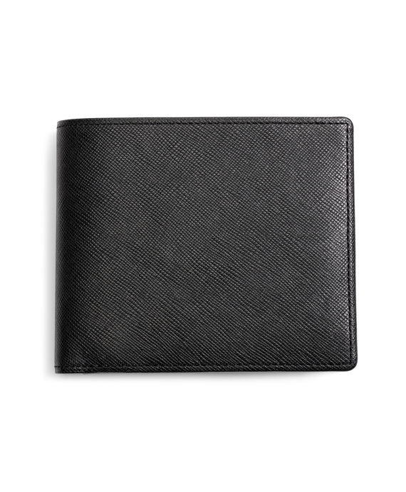 Saffiano Leather Euro Wallet Black