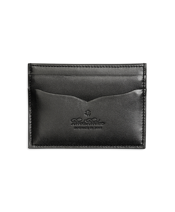 Saffiano Leather Card Case Black