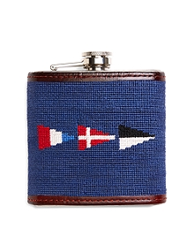 Nautical Flag Needlepoint Flask