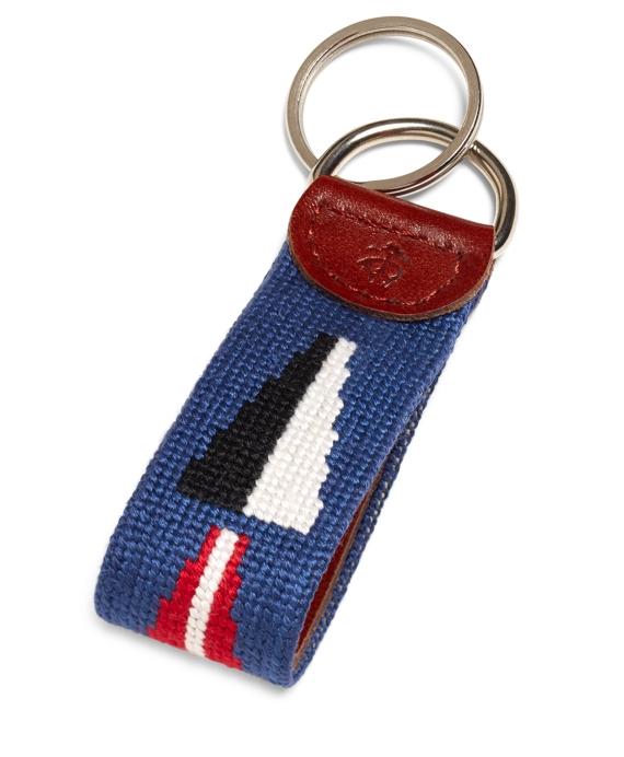 Nautical Flag Needlepoint Key Fob