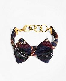 Kiel James Patrick Signature Tartan Bow Tie Bracelet