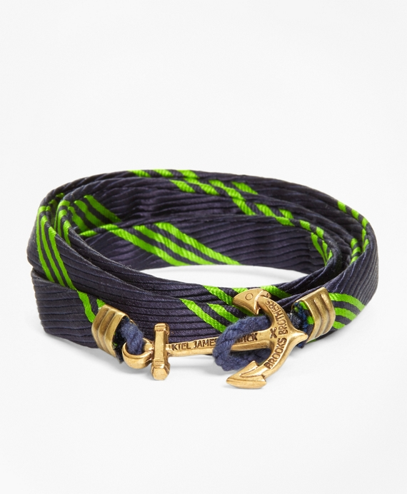 Wrap Bracelet by Kiel James Patrick Navy-Green