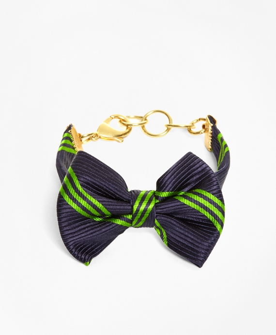Bow Tie Bracelet by Kiel James Patrick Navy-Green