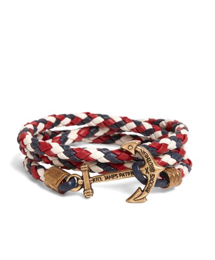 Kiel James Patrick Red Leather Wrap Bracelet