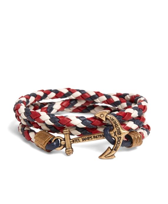 Kiel James Patrick Red Leather Wrap Bracelet Red