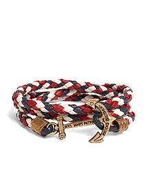 Kiel James Patrick Red Leather Wrap Bracelet
