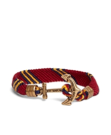Kiel James Patrick Burgundy Hitch Knot Braided Bracelet