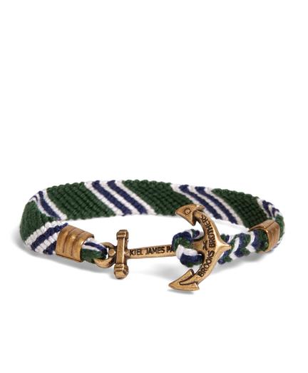 Kiel James Patrick Green Hitch Knot Braided Bracelet