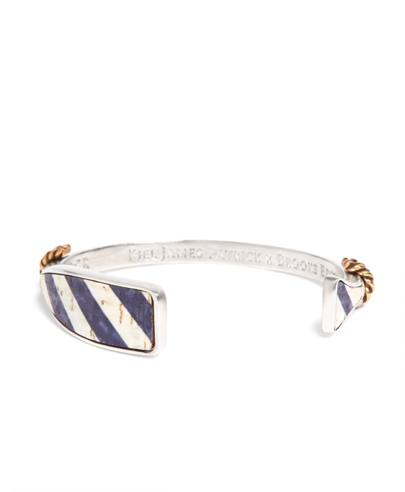 Kiel James Patrick Navy and White Oar Bracelet