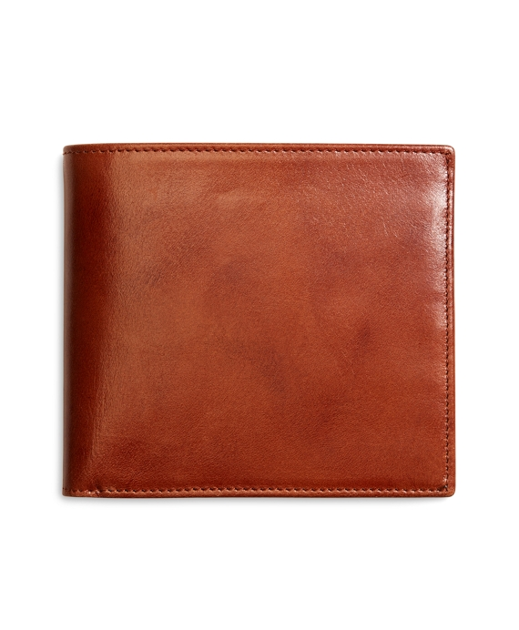 Burnished Leather European Wallet Cognac