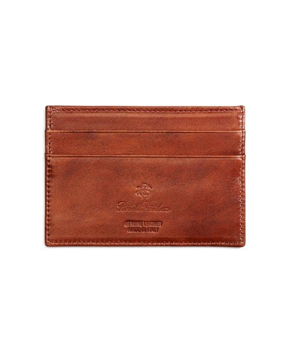 Burnished Leather Card Case Cognac