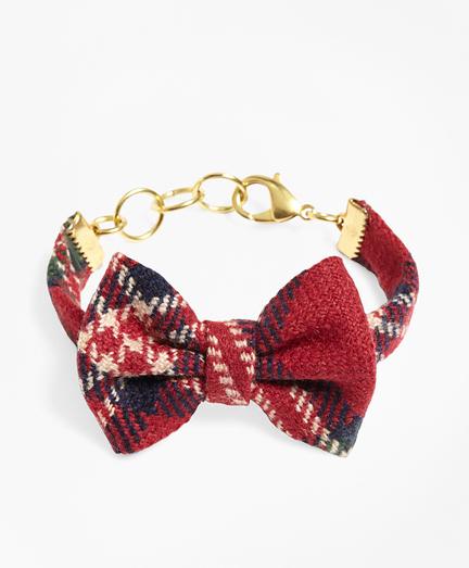 Kiel James Patrick Tartan Bow Tie Bracelet