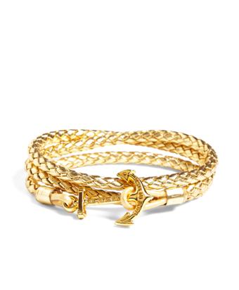 Kiel James Patrick Leather Wrap Bracelet