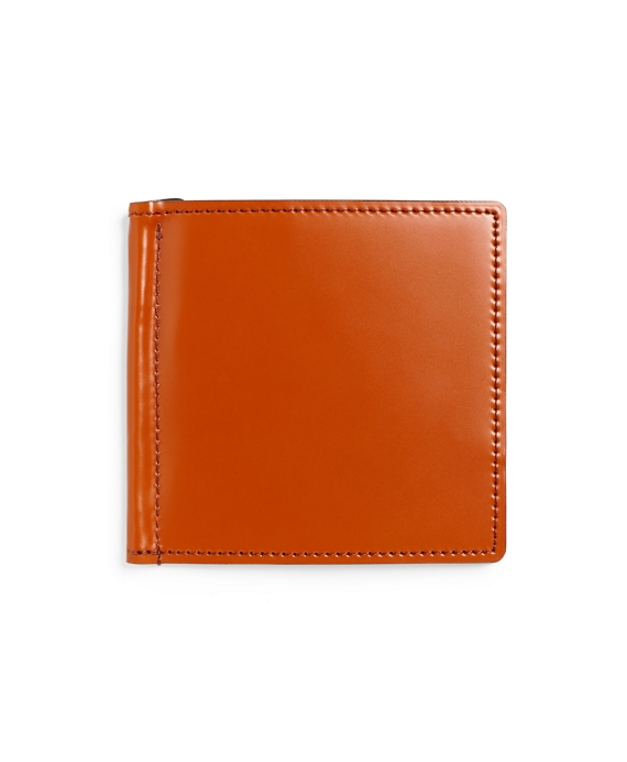 Cordovan Money Clip Wallet Cognac