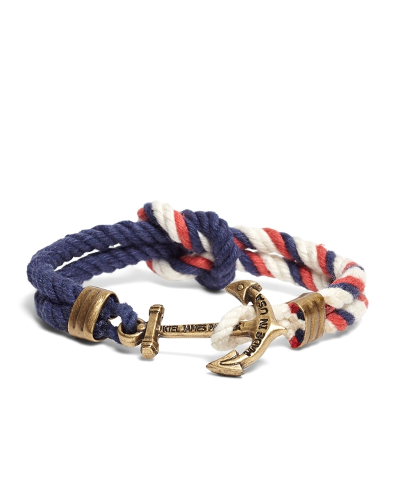 Kiel James Patrick Red Navy and White Triton Bracelet