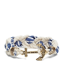 Kiel James Patrick Seersucker Stripe Braided Bracelet