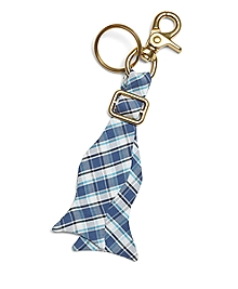 Seersucker Plaid Key Fob