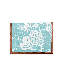 Pineapple Print Fabric Card Case
