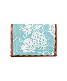 Pineapple Print Fabric Card Case