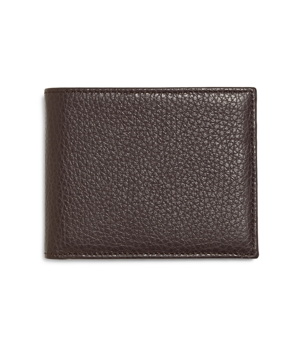 Pebble Leather Wallet Brown