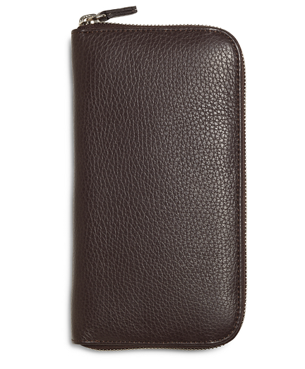 Pebble Leather Travel Wallet