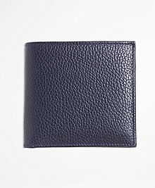 Pebble Leather Euro Wallet with Coin Case